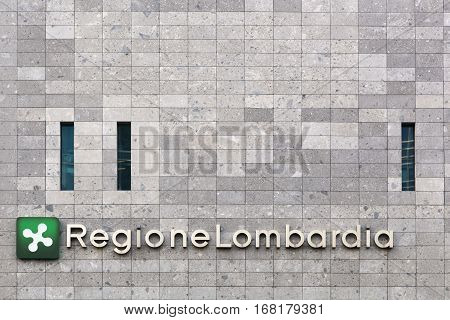 Milan, Italy - September 15, 2016: Region Lombardy Building called Palazzo Lombardia in italian in Milan, Italy. It is the main seat of the government of Lombardy