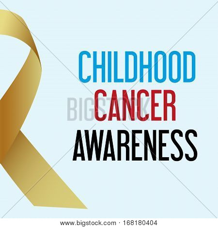World Childhood Cancer Day Awareness Poster Eps10
