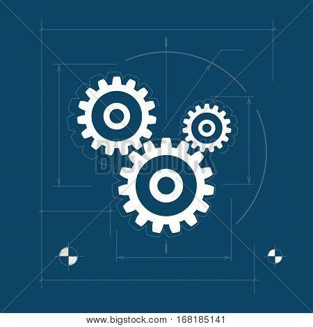Gears, Teamwork ,Joint Effort, Team Effort, Logo Design Element