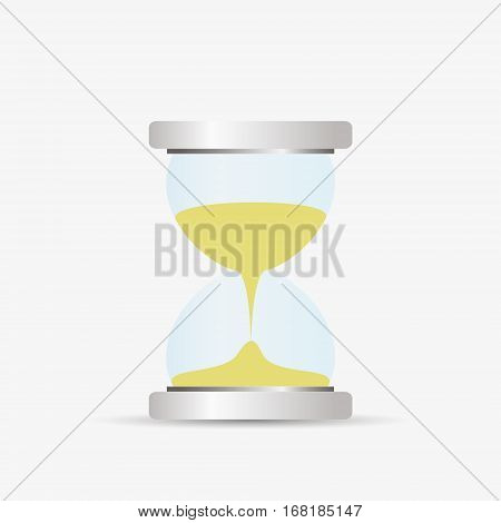 Hourglass Sandglass Silver And Glass Simple Vector Object Eps10