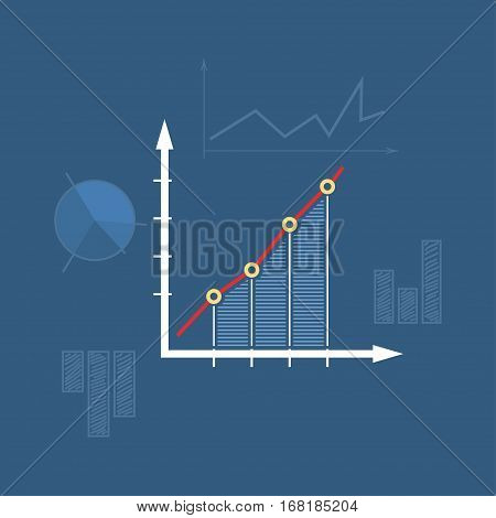 Chart, Graphic Success Icon, Graph Growth ,Line Style Design
