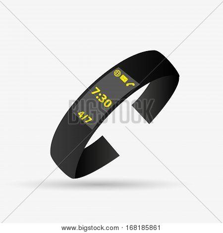 Simple Sport Tester Or Modern Smart Digital Watch Object Eps10