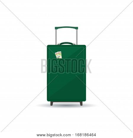 Travel Trolley Suitcase Isolated on White, a Luggage Bag for Traveling, Travel Bag