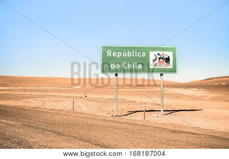 Border sign of