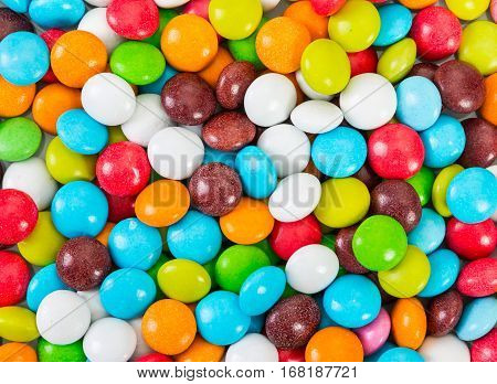 Sweet Colorfull Candy As Background