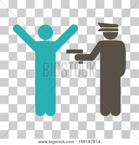 Police Arrest icon. Vector illustration style is flat iconic bicolor symbol grey and cyan colors transparent background. Designed for web and software interfaces.