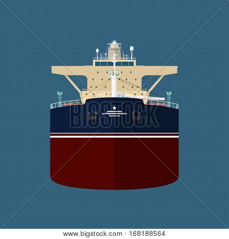 Front View of the Vessel ,Oil Tanker ,International Freight Transportation, Vessel for the Transportation of Goods