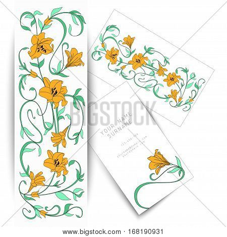 Decorative hand drawn nature ornamental vector background, flowers and leaves pattern for adult anti stress. for invitations and postcards. business card for beauty saloon