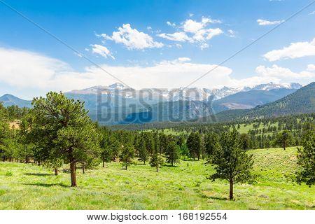 Longs Peak landscape at Rocky Mountain Park