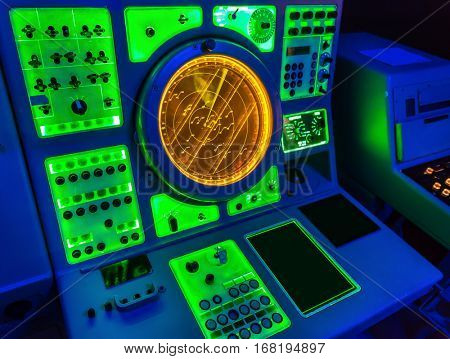 Aircraft carrier navigation equipment.