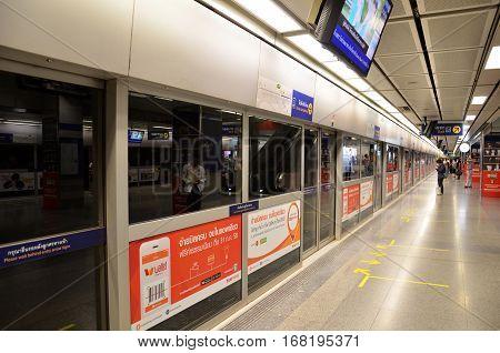 Mrt Underground Station In Bangkok