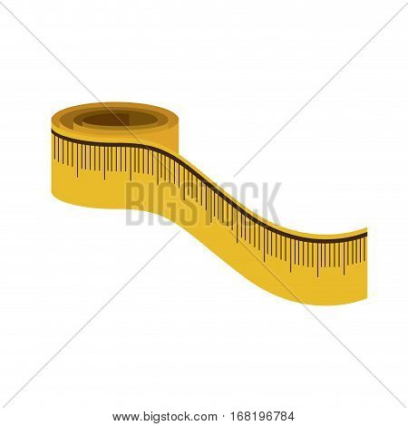 color silhouette with measure tape vector illustration