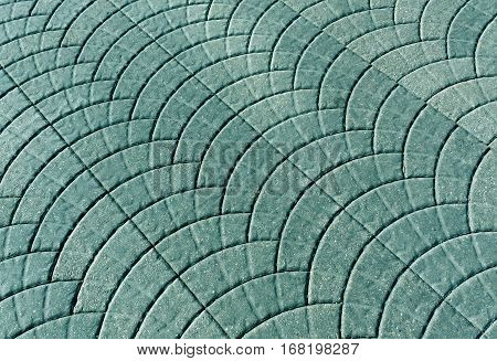 Cyan Toned Pavement Surface.