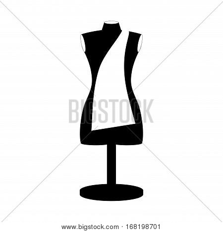 monochrome manikin tailor shop design close up vector illustration