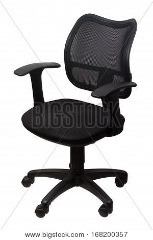 old black Office Chair isolated on white background