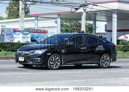 CHIANG MAI THAILAND - NOVEMBER 26 2016: Private car Honda Civic. On road no.1001 North of city about 8 km from Chiangmai Center.