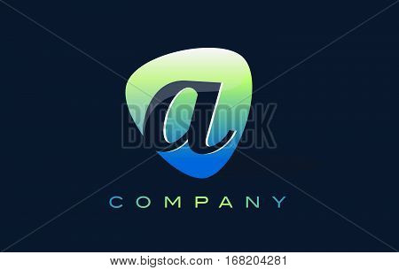 a Letter Logo. Oval Shape Modern Design with Glossy Look.