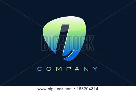 l Letter Logo. Oval Shape Modern Design with Glossy Look.