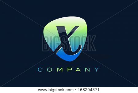 x Letter Logo. Oval Shape Modern Design with Glossy Look.