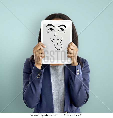Face Expression Emotional People Concept