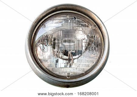 image of the Vintage car headlight isolate