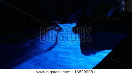 Blue grotto in Capri island, Italy