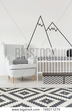 Room With Cot And Armchair