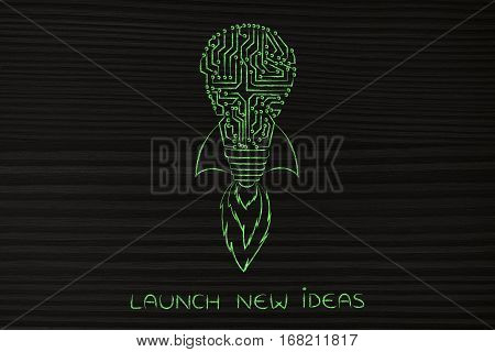 Launch New Tech Ideas: Circuit Lightbulb With Rocket Setup