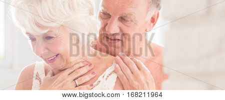Foreplay Between Senior Man And Woman