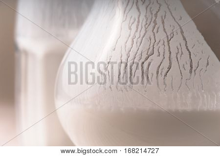 Glass and pitcher of white kefir close-up horizontal