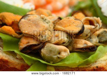 Open Seafood Sandwich
