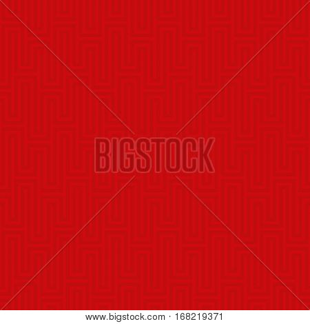 Red Waveform seamless pattern.Neutral tileable linear vector background.