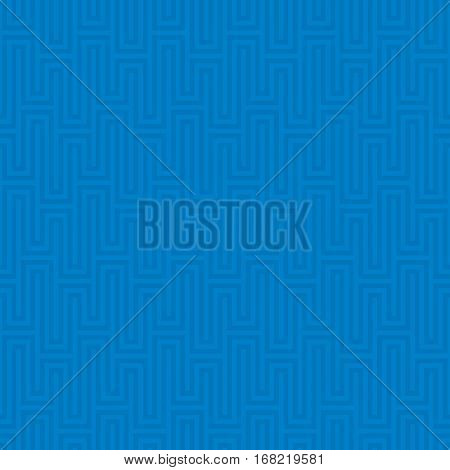 Blue Waveform seamless pattern.Neutral tileable linear vector background.