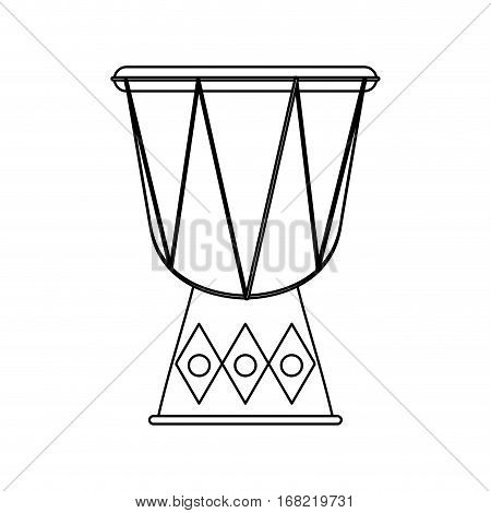 djembe drum instrument icon over white background. vector illustration