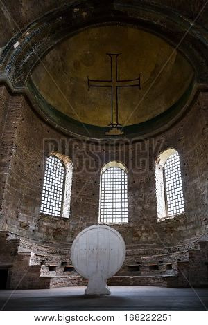 Interior Of Ancient Hagia Irene Church In Topkapi