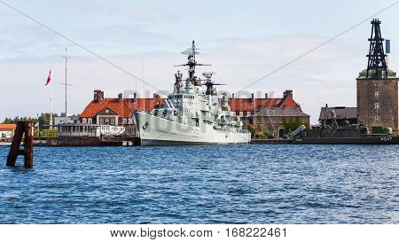 Battleship Peder Skram In Copenhagen Harbor