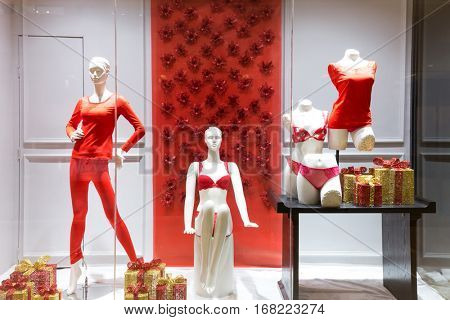 fashion shop in modern shopping mall