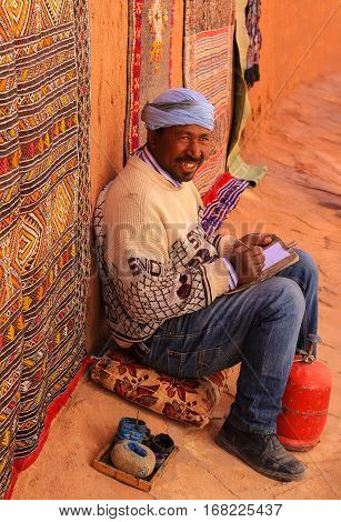 Moroccan Artist Smiling