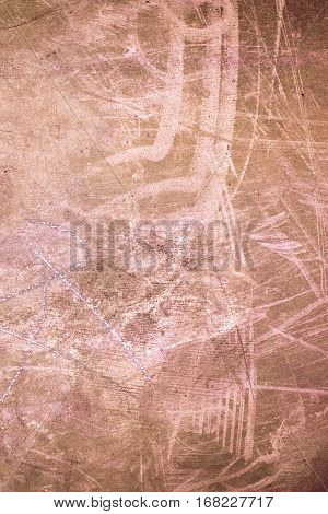 Grunge textured wall - Old background with copy space and scratches
