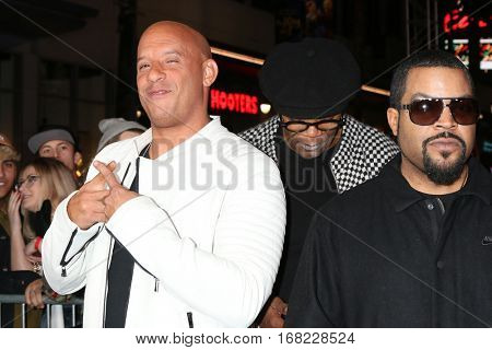 LOS ANGELES - JAN 19:  Vin Diesel, Ice Cube at the