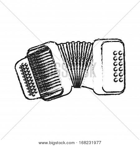 accordion instrument icon over white background. vector illustration