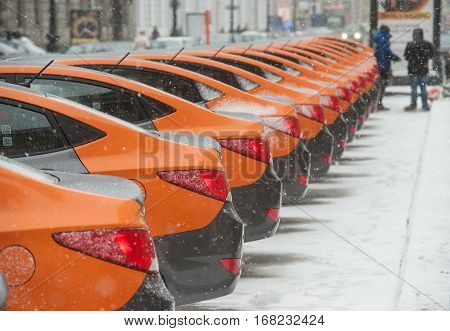Cars-sharing - The Opening Of A New Service Car Rental Per Minute