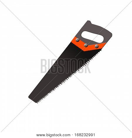icon with a hacksaw. handsaw gray, without background