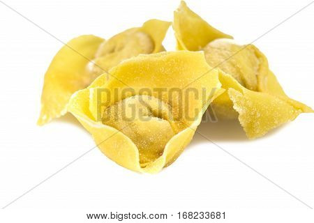 flouring tortellini ready to cook in the broth