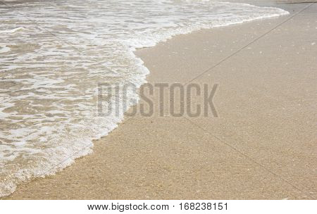 beutiful wave on the beach for background