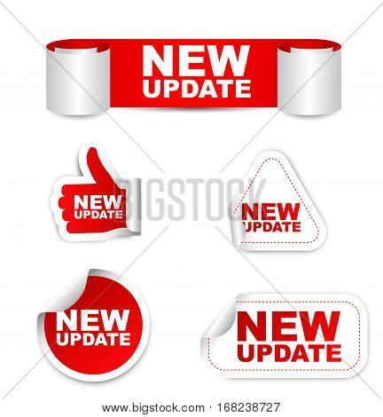 update new update sticker new update red sticker new update red vector sticker new update set stickers new update new update eps10 design new update sign new update