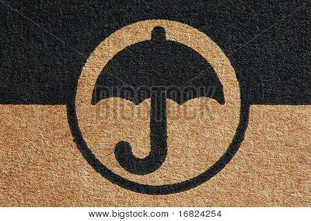 cardboard umbrella mark fine closeup image background