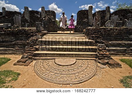 Sri Lanka. Old city of Polonnaruwa. The ruins of the city.