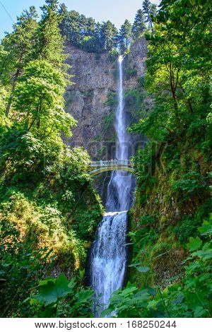 Great Multnomah Falls, Portland in Oregon, USA