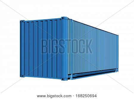 container for cargo transportation isolated on white background with path